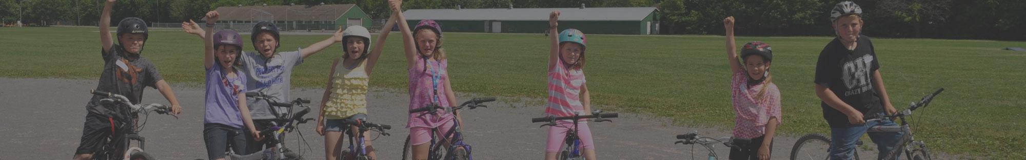 Kids on Bikes Celebrating